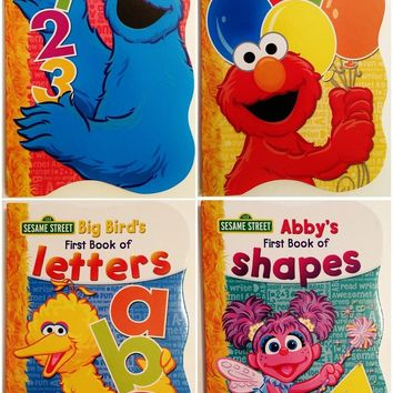 Sesame Street First Books Series; BIG Bird's Letters, Abby's Shapes, Elmo's Col