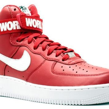 Ready Stock Nike Air Force 1 High Supreme Sp Supreme Red Sport Running Shoes