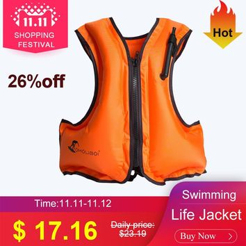 Swimming Life Jacket Adult Inflatable Swim Vest Life Jacket Snorkeling Floating Surfing Water Sports Life Saving Jacket