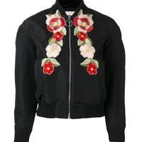 Indie Designs Floral Embroidered Bomber Jacket