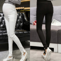M~XXL2016 the new spring and summer hot stretch jeans are comfortable fashion pregnant belly support Maternity Clothes Formal