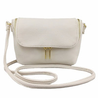 Zipper Clutch Cover PU Leather Sling Bag