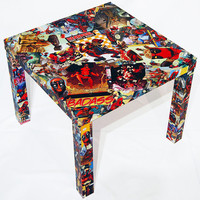 Deadpool Comic Collage Table FREE SHIPPING USA