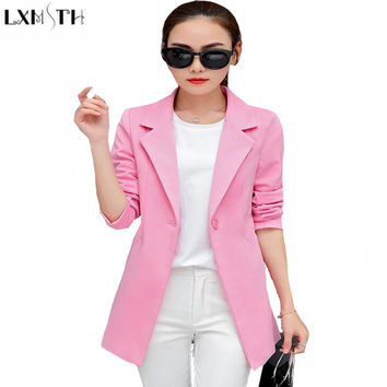 5XL Women Blazers And jackets Slim Long Sleeve Plus Size Blazer Mujer 2017 Casual Suit Jacket Female Autumn Spring Coat Womens