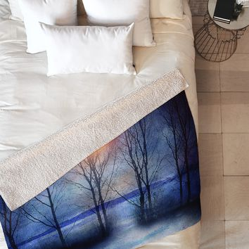 Viviana Gonzalez Winter Sonata Fleece Throw Blanket