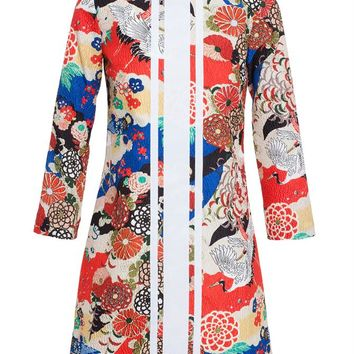 Japanese Print Cloque Dress - CARVEN