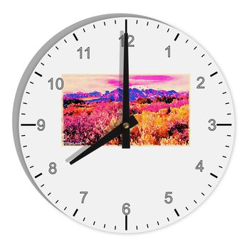 """Colorful Colorado Mountains 8"""" Round Wall Clock with Numbers by TooLoud"""