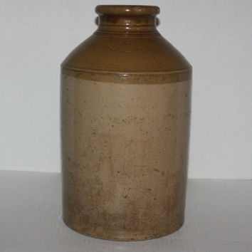 Vintage Antique 1800s  Robinson's, Jack Lane Pottery, Leeds, Stoneware Crock Large Storage Jar