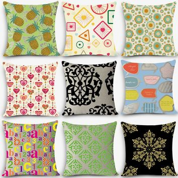 2018 new brand seat linen throw pillow Nordic Vintage geometric painting outdoor chair cushions home decor pillow MYJ-J8