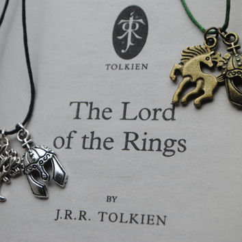 Lord Of The Rings Merry & Pippin Friendship Necklaces (Rohan and Gondor)