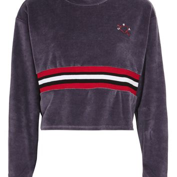 USA Velour Sweat Top - New In Fashion - New In
