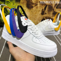 NIKE AIR FORCE 1 07 QS SWOOSH PACK Velcro Exchanged Skate Shoes white