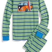 Boy's Hanna Andersson Organic Cotton Two-Piece Fitted Pajamas,
