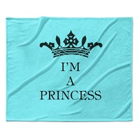 "Louise Machado ""Im a Princess"" Fleece Throw Blanket"