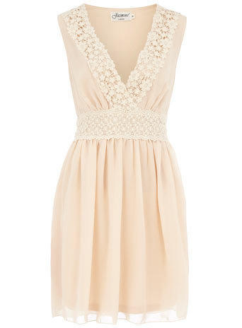 Cream sleeveless dress - Day Dresses - Dresses  - Clothing - Dorothy Perkins