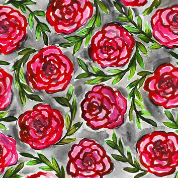 Red Roses Watercolor Painting