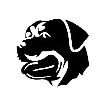 Rottweiler Dog Car Sticker Wall Home Glass Window Door Laptop Auto Truck Bumper Vinyl Decal Decor Gift Black 12.2cmX11.4cm