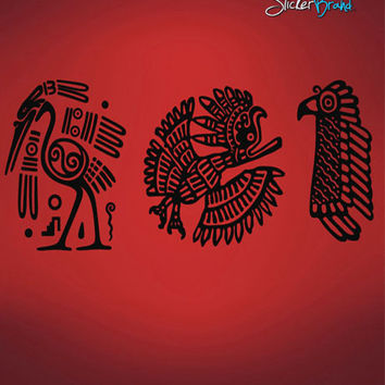 Vinyl Wall Decal Sticker Mayan Animal Symbols #542