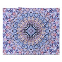 "Iris Lehnhardt ""Summer Lace II"" Circle Purple Fleece Throw Blanket"
