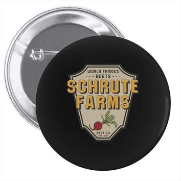 World Famous Beets Schrute Farms Pin-back button