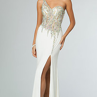 One Shoulder Gown JVN by Jovani