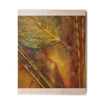 "Malia Shields ""Life Abstracts Series 2"" Gold Maroon Photography Birchwood Wall Art"