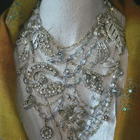 Wedding Necklace MeanderinG BlinG Take a Walk on The by KayAdams