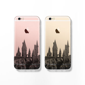Hogwarts Cityscape Clear Phone Case iPhone Cover