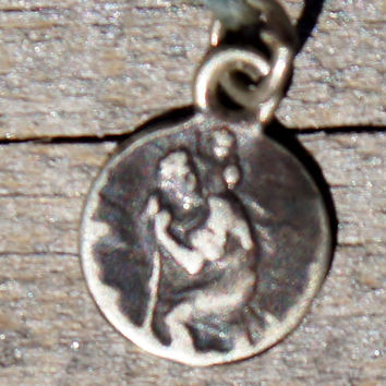 Petite Silver French St Christopher Medallion