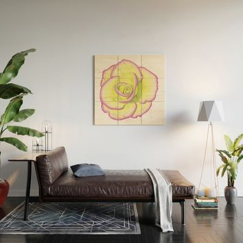 Rose - After the Rain Wood Wall Art by drawingsbylam