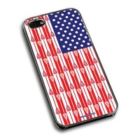 Lacrosse iPhone 5 | iPhone 5S Case USA Lacrosse Sticks Flag