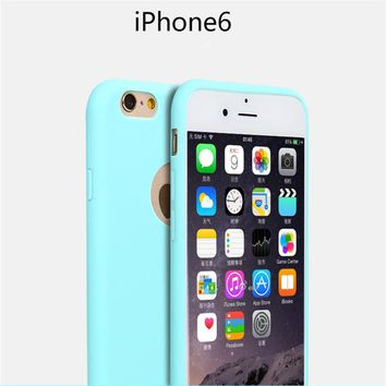KRY Candy Colors Phone Cases For iPhone 7 Case 7 Plus Cover for iPhone 6 Case 5 5s SE Cases Soft TPU