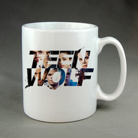 teen wolf cool logo mug white === one and two side ,and custom order mug