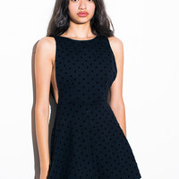 Polka Dot Ponte Sleeveless Skater Dress