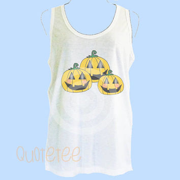 Women tank tops Pumpkin tank top - Summer tank - gift ideas S M L XL Halloween tank top