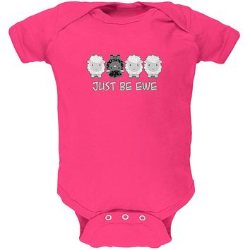 Just Be You Ewe Black Sheep Soft Baby One Piece
