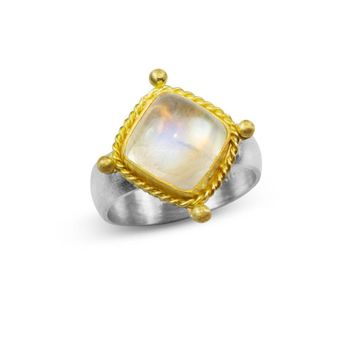 ALL NEW Renaissance Ring in Moonstone and 22K Gold