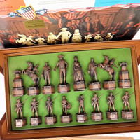 Classic Games 1776 Chess Set, 1972 Edition VI, Collector's Series 605, Vintage Board Games