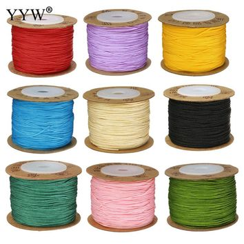 24 Color 100m/Spool 0.8MM Nylon Cord Thread Cord Plastic String Strap DIY Rope Bead Necklace Shamballa Bracelet Jewelry Making