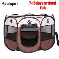 110cmPet Cage Supplies 600D Oxford Dog Carrier Dog Playpen For Dog Cat Fence Kennel Dog House Outdoor Cat House Playpen Exercise