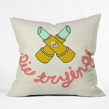 Wesley Bird Die Trying Throw Pillow