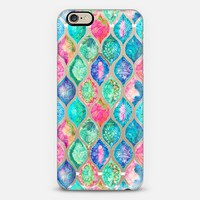 Watercolor Ogee Patchwork Pattern on Transparent iPhone 6 case by Micklyn Le Feuvre | Casetify