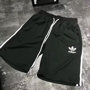 ADIDAS 2018 summer trendy men and women casual fashion sports shorts F-AA-XDD black