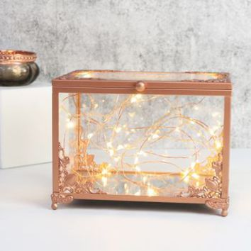 copper and glass jewellery display box by lisa angel homeware & gifts | notonthehighstreet.com