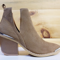 Maple Western Pull On Bootie Khaki