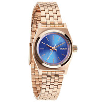 Nixon Small Time Teller Watch Rose Gold/Cobalt One Size For Women 23423438101