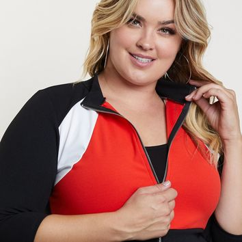 Plus Size On Track Crop Jacket