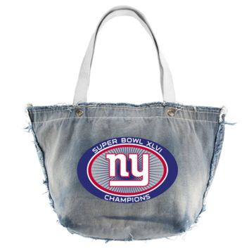New York Giants Super Bowl XLVI Champions Ladies Vintage Tote Bag