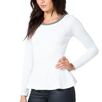 Chelsea Beaded Peplum