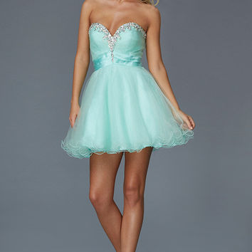 G2062 Jeweled Lace Up Homecoming Cocktail Dress